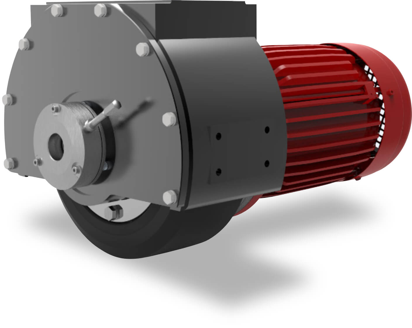 3D Image of a travel motor in side mounting design such as used on automatic guided vehicles and platforms