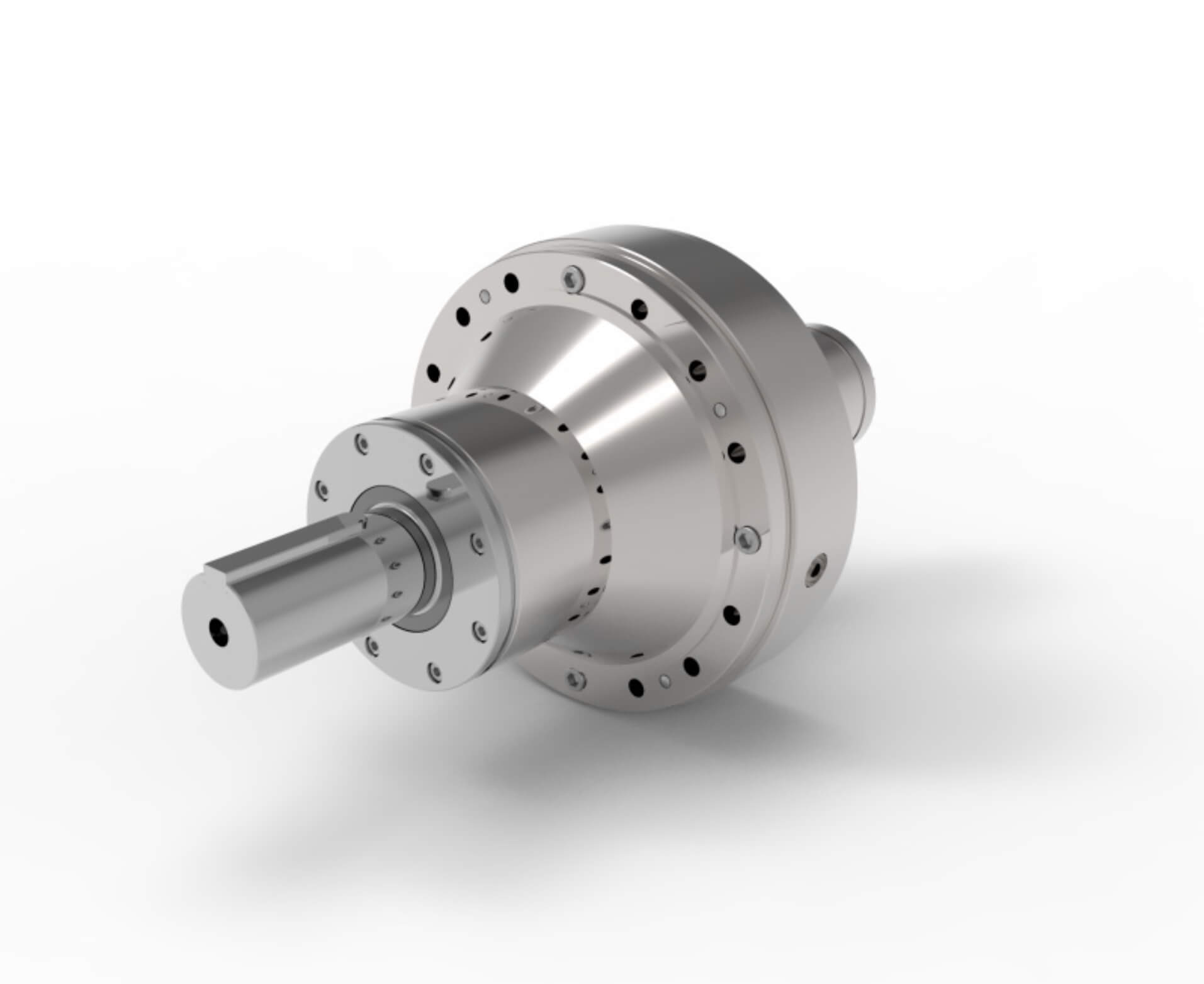 3D image of . travel motor design using speed reducers for AGV and other applications